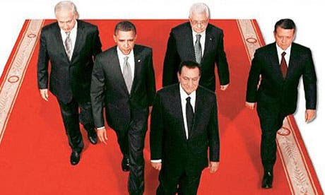 Egypt's former President Hosni Mubarak, clearly ahead of the crowd – as pictured in Egypt's Al-Ahram...