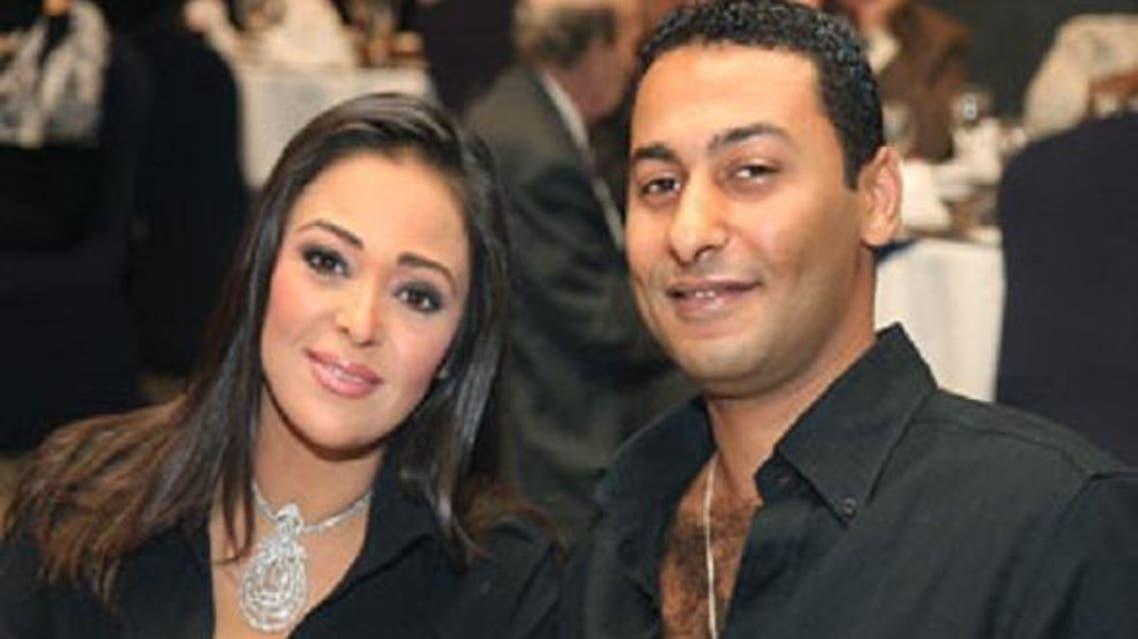 الراحل فريد المرشدي مع زوجته داليا البحيري