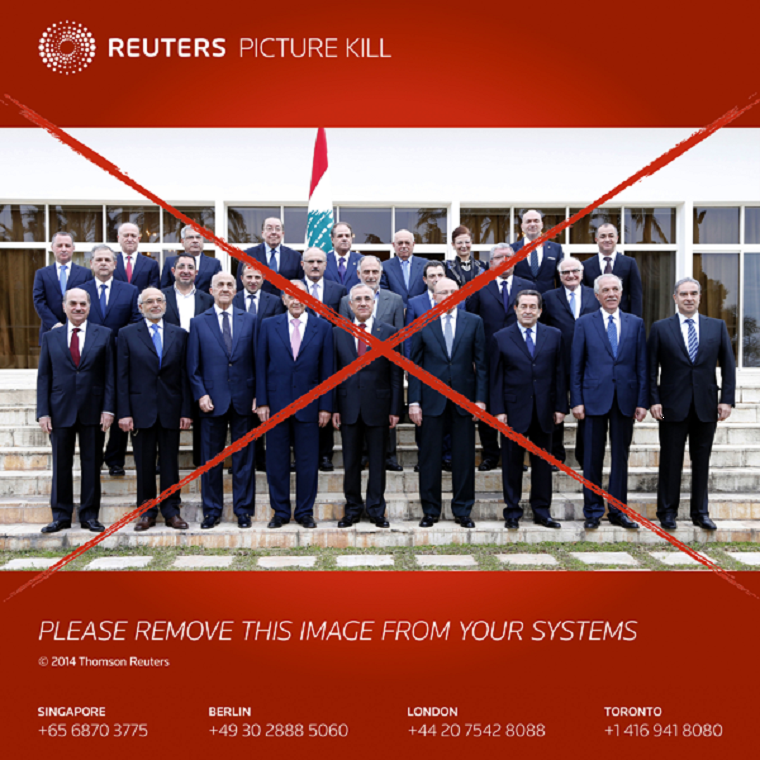 Reuters also sent out a 'kill' notice
