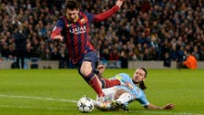 Barca takes control with 2-0 win over 10-man Manchester City