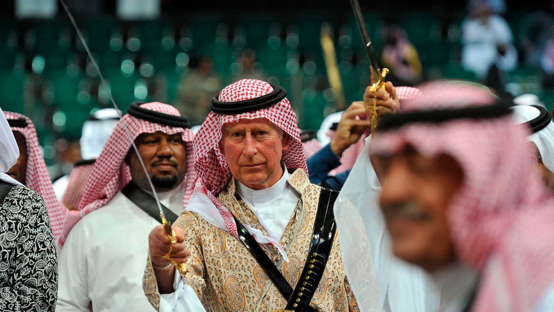 Prince Charles dances Saudi-style