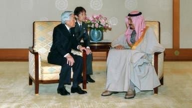 الأمير سلمان يلتقي إمبراطور اليابان ورئيس الوزراء