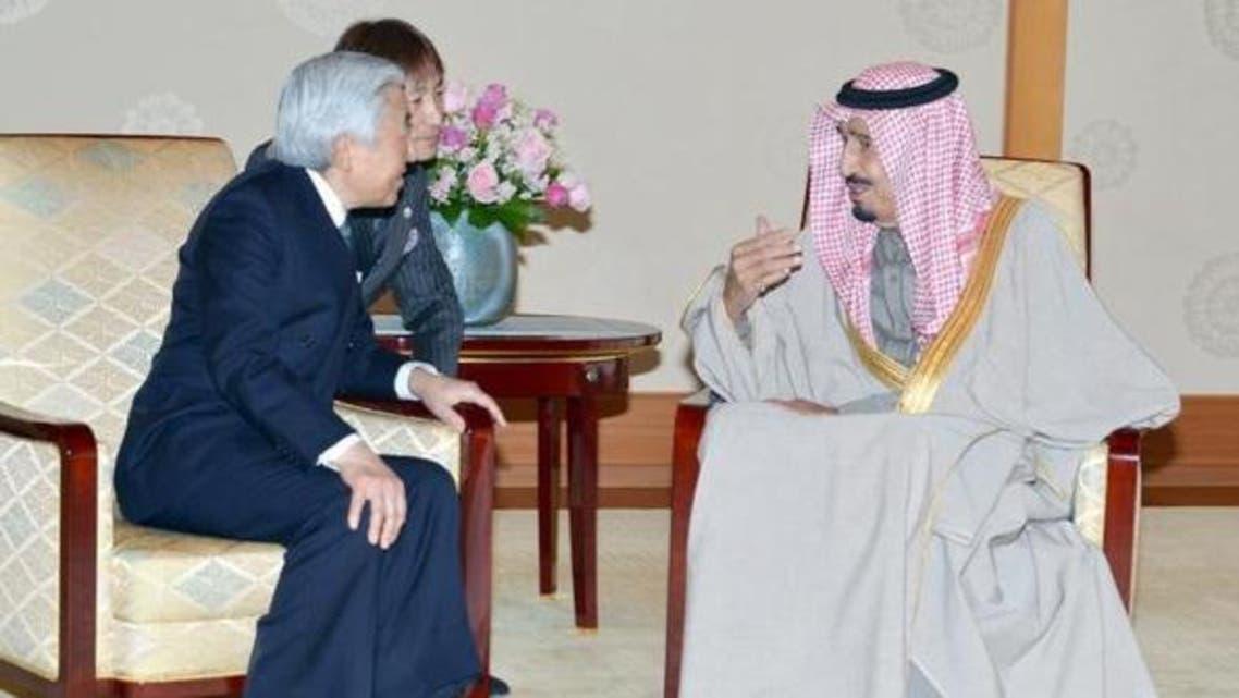 امپراتور ژاپن و شاهزاده سلمان