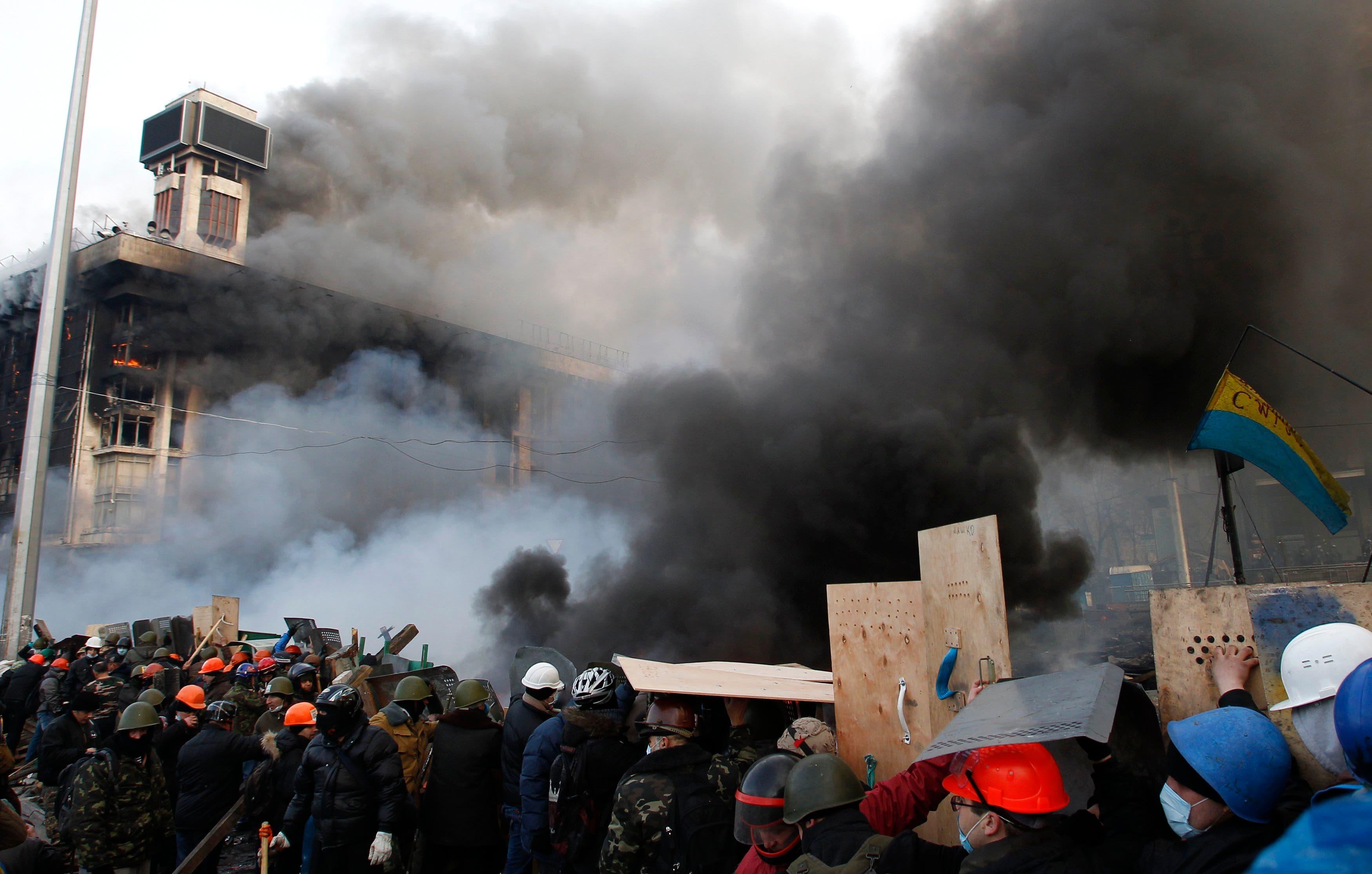 Violent Kiev clashes