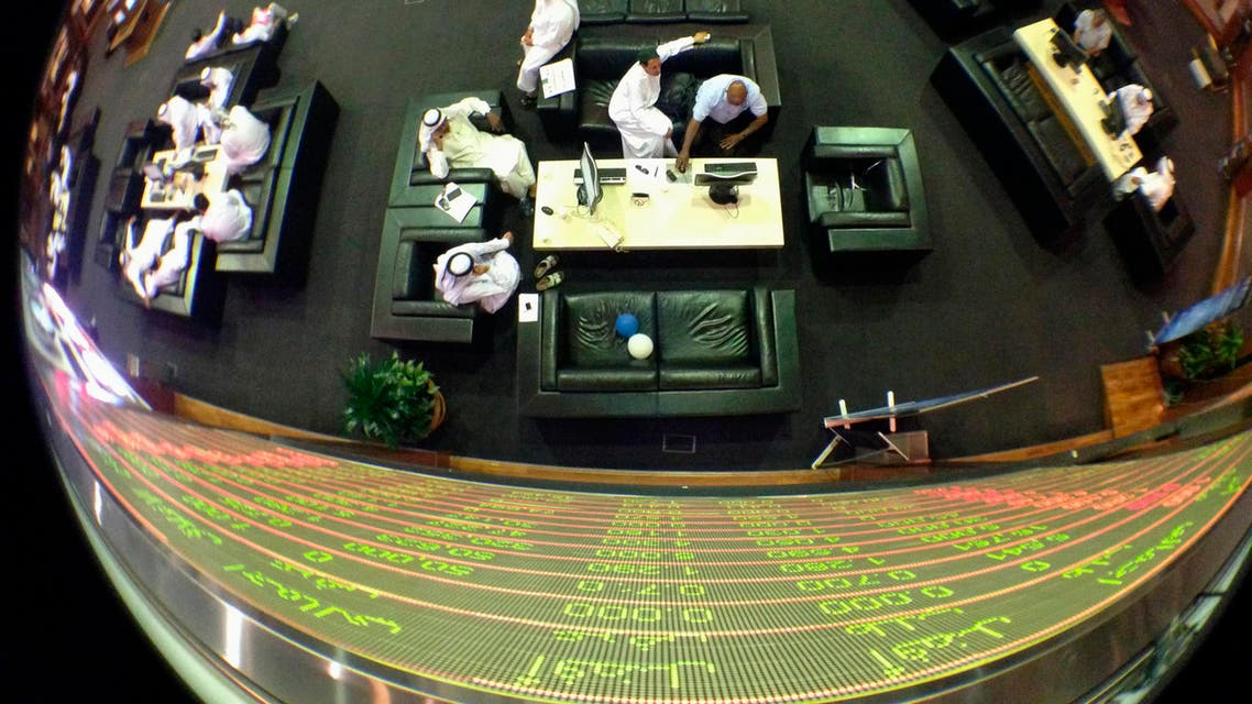 An electronic board displaying stock information at the Dubai Financial Market. (File photo: Reuters)