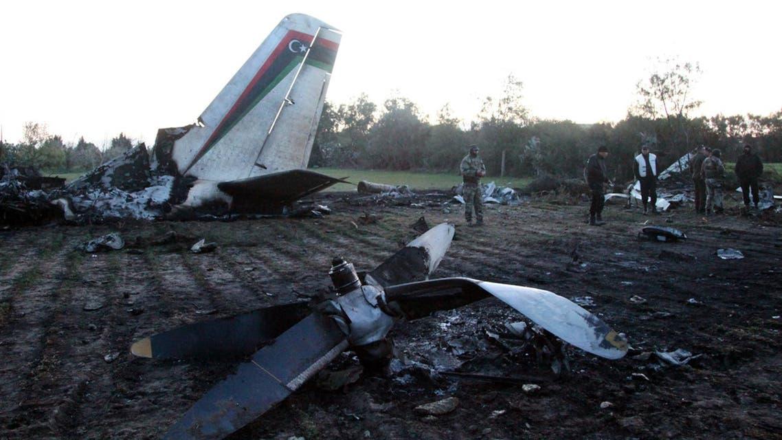 تحطم طائرة ليبية في تونس