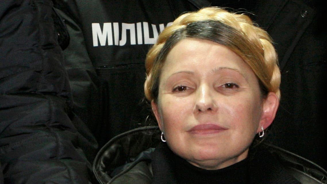 Ukrainian opposition leader Yulia Tymoshenko reacts after she was freed in Kharkiv, Feb. 22, 2014. (Reuters)