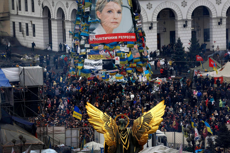 تجمع لمعارضي الرئيس الاوكراني في ميدان كييف