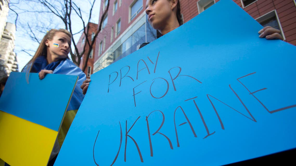 Ukrainians call for peace
