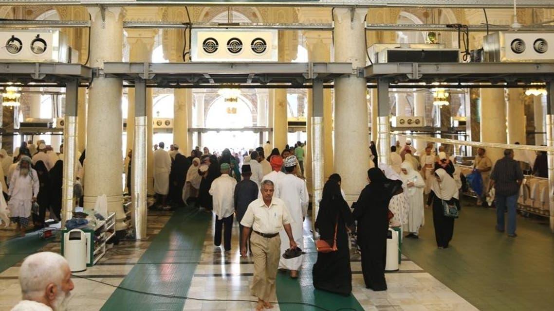 قبو المسجد الحرام بعد تركيب اجهزة التكييف