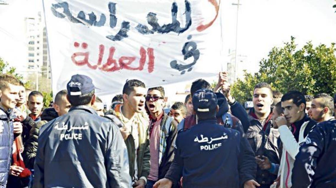 طلبة الثانويات في الجزائر مسيرات احتجاجية