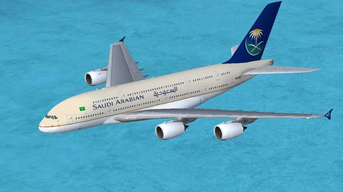 طائرة تتبع اسطول الخطوط الجوية السعودية