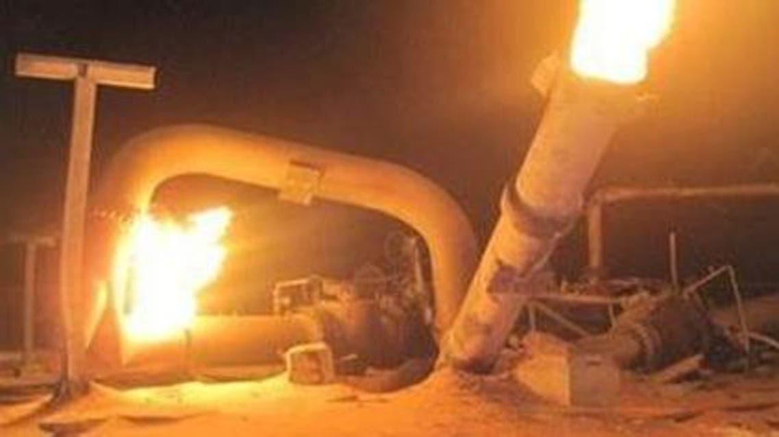 تفجير خط الغاز المصري