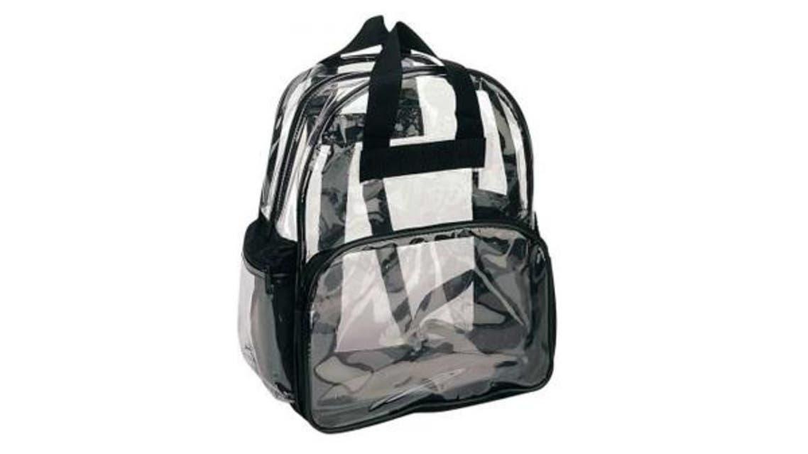 حقائب مدرسية شفافة
