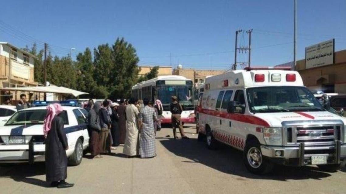حريق اندلع بمدرسة البنات في عرعر