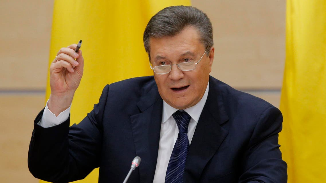 Ousted Ukrainian President Viktor Yanukovich takes part in a news conference in the southern Russian city of Rostov-on-Don Feb. 28, 2014.  (Reuters)