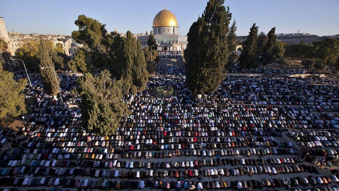 المصلين في المسجد الأقصى