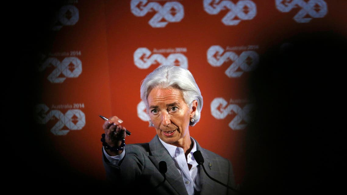 International Monetary Fund (IMF) Managing Director Christine Lagarde takes a question at a news conference during the G20 Central Bank Governors and Finance Ministers annual meeting in Sydney, Feb. 23, 2014. (Reuters)