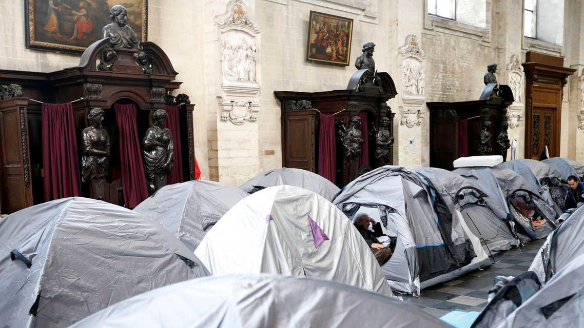 Afghans seeking asylum occupy Brussels church