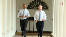 Obama and Biden seen in White House jogging video