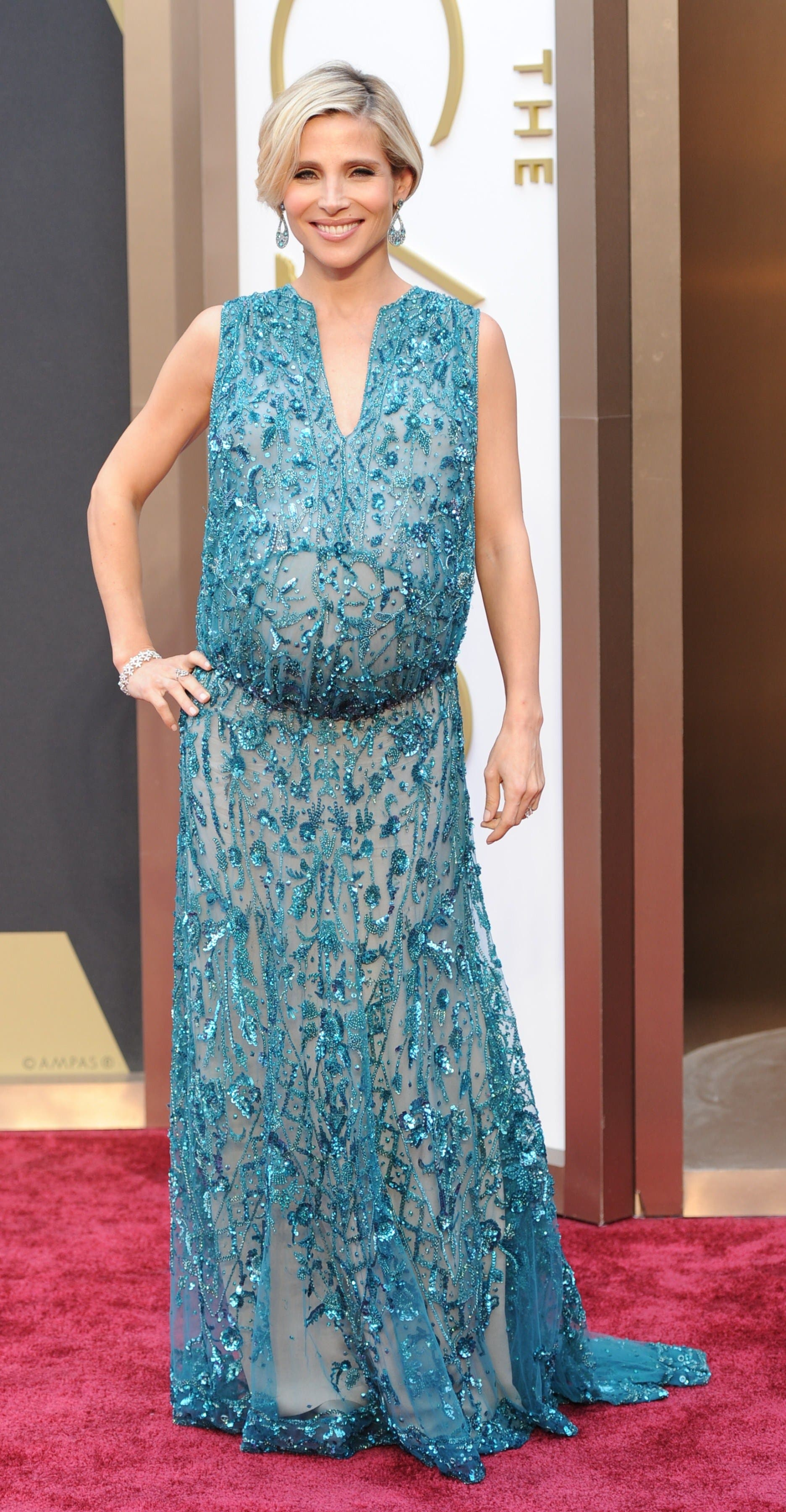 Elsa Pataky wearing Elie Saab (AFP)