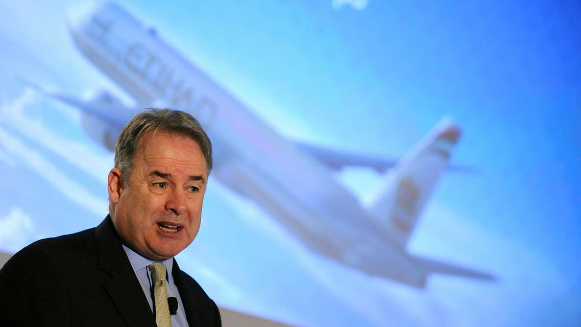 Etihad chief James Hogan said the airline is in the final phase of due diligence on its possible investment in Alitalia. (File photo: Reuters)