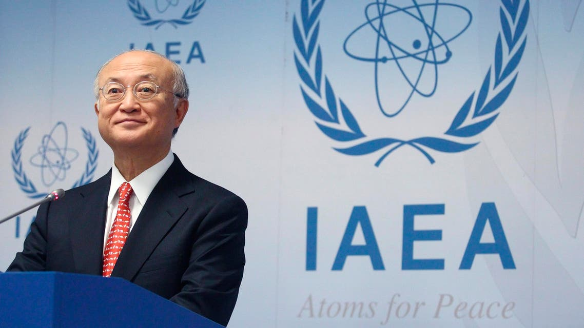 International Atomic Energy Agency (IAEA) Director General Yukiya Amano addresses the media after a board of governors meeting at the IAEA headquarters in Vienna January 24, 2014 (Reuters)
