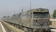 خروج قطار عن القضبان في محافظة سوهاج المصرية