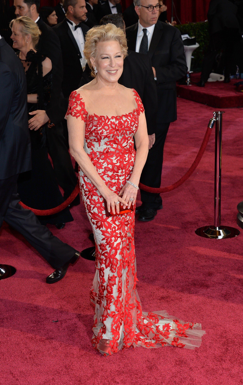 Bette Midler wearing Reem Acra (AFP)