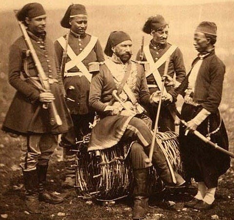 Troops - presumed to be of Egyptian origin - pictured in the Crimea. (Photo courtesy of the Roger Fenton collection)
