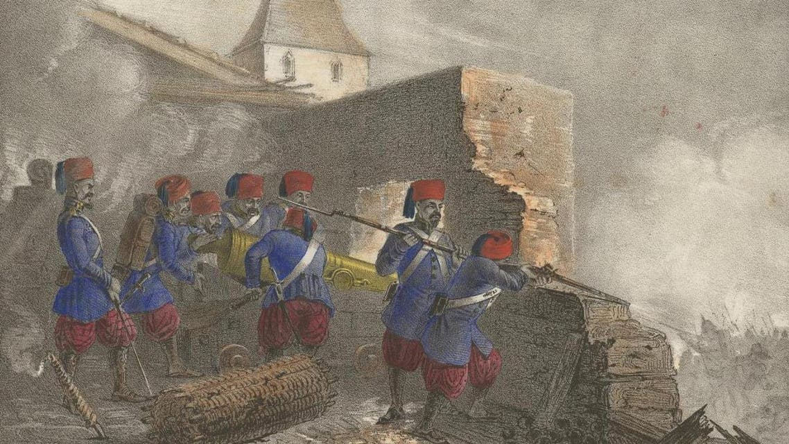 Ottoman troops pictured at the Siege of Silistira, a battle where an Egyptian military contingent fought in the Crimean War. (Photo courtesy of Wikimedia Commons)