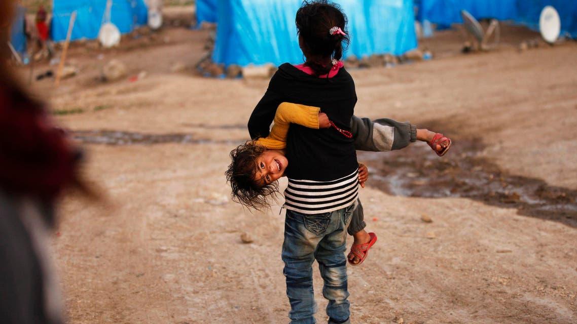 Syrian children in refugee camps
