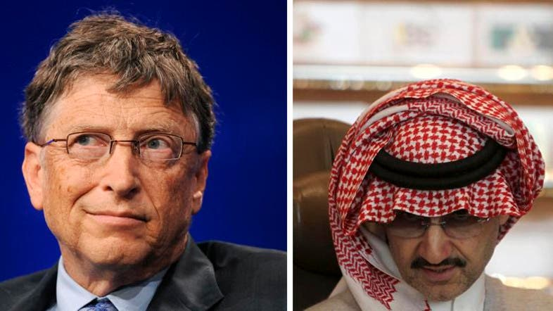 gates up saudi s prince alwaleed in forbes rich list al arabiya gates up saudi s prince alwaleed in forbes rich list al arabiya