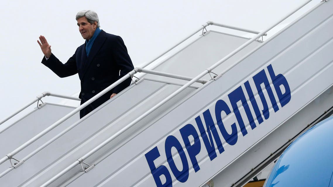 U.S. Secretary of State John Kerry arrives in Kiev, Ukraine March 4, 2014. Kerry's visit comes as the Obama administration seeks to devise a diplomatic and economic strategy to reverse Russia's bloodless seizure of Ukraine's Crimea. (Reuters)