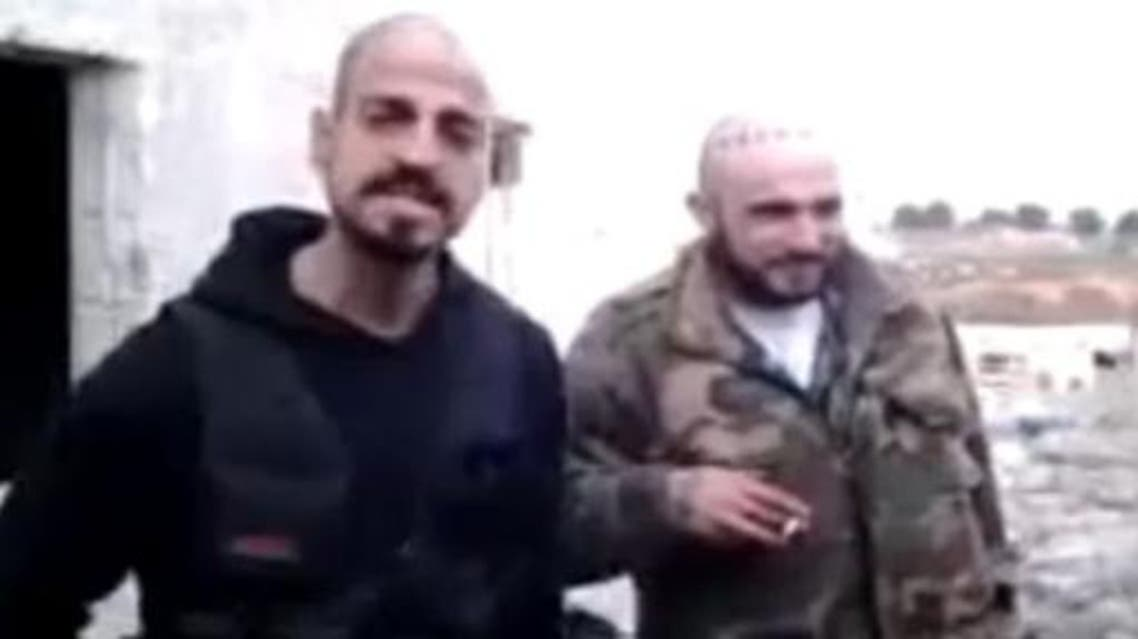 """""""Creeper,"""" left, of the Surenos appears in this vide with his fellow """"Wino"""" of the Westside Armenian Power gang. They claim fighting on the """"front lines"""" of the Syrian civil war. (MEMRI.org)"""