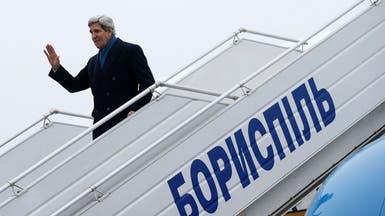 كيري يصل لكييف لإجراء محادثات مع الحكومة الانتقالية