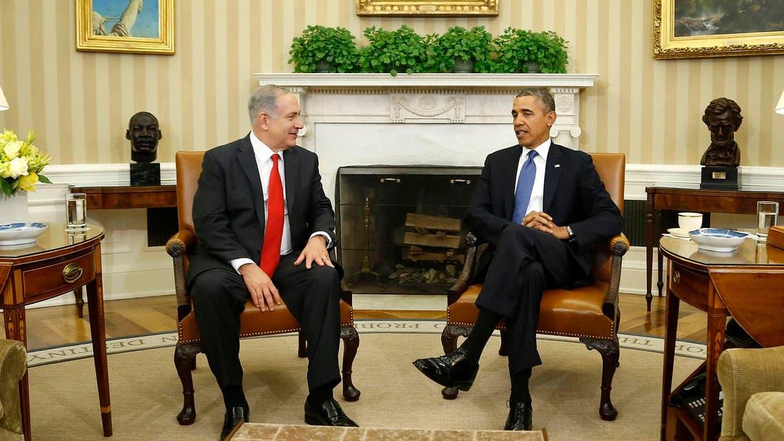 اوباما خلال لقائة مع نتنياهو