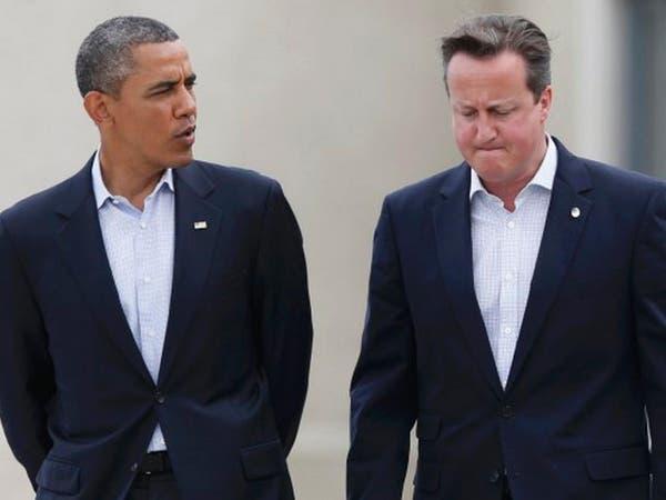 """أوباما وكاميرون ينددان بوضع """"غير مقبول"""" في أوكرانيا"""