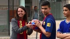FC Barcelona sends footballs to Palestinian schoolchildren