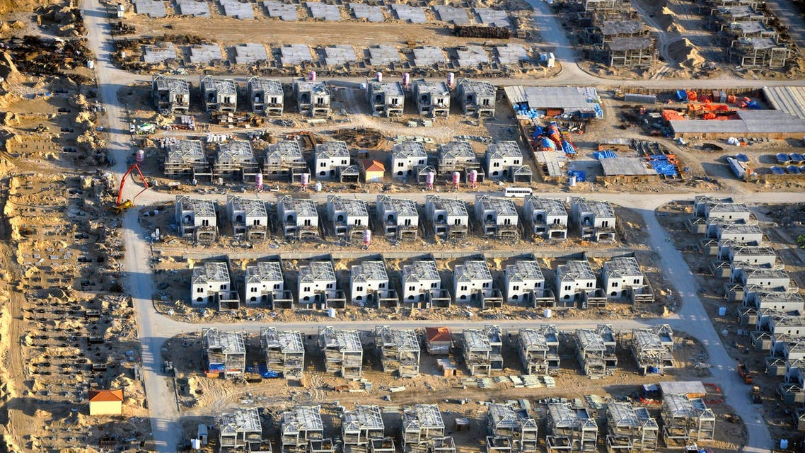 An aerial view is seen of construction work in Dubai pictured in Dec. 2009. (File photo: Reuters)