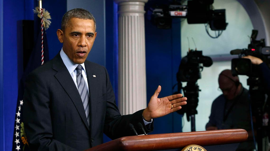 U.S. President Barack Obama delivers a statement on the situation in Ukraine in the press briefing room at the White House in Washington, March 6, 2014. (Reuters)