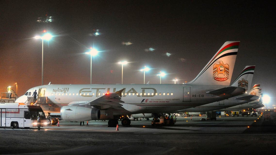 Etihad Airways aircraft are seen at Abu Dhabi International Airport on Sept. 19, 2012. (File photo: Reuters)