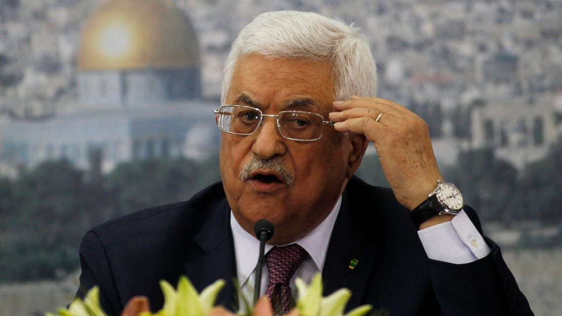Palestinian President Mahmoud Abbas speaks during a meeting with Israeli students in the West Bank city of Ramallah, Feb. 16, 2014. (Reuters)