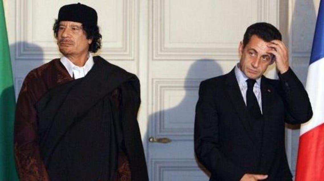 ساركوزي والقذافي