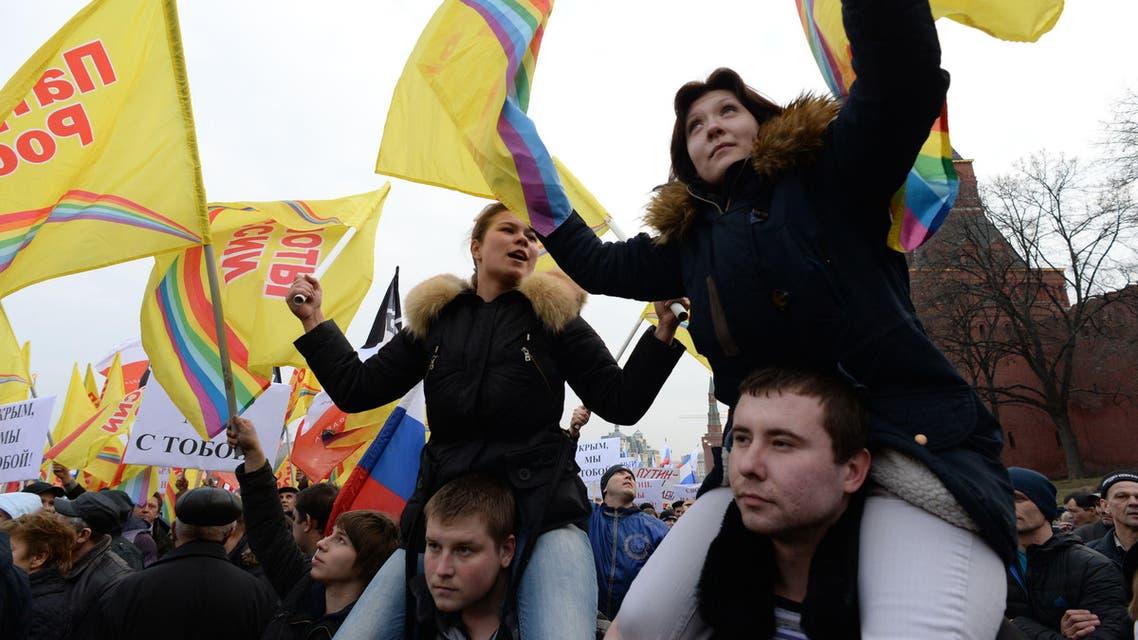مظاهرات في موسكو تأييدا للقرم