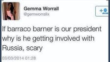 'Barraco Barner:' Twitter erupts after UK woman misspells Obama's name