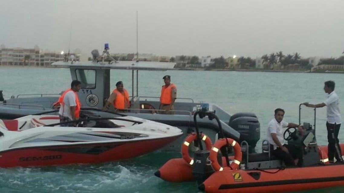 دوريات حرس الحدود أثناء مباشرتها الحادث