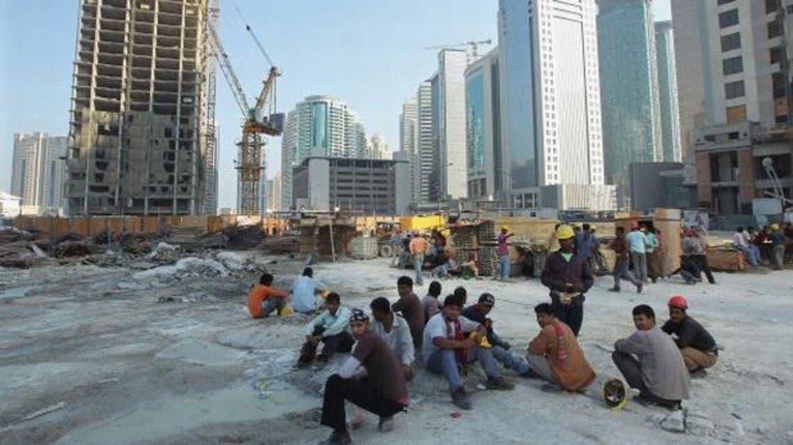 عمال آسيويون في الدوحة قطر