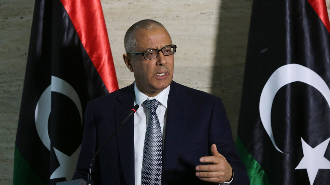 Libya's Prime Minister Ali Zeidan speaks during a press conference on March 8, 2014 in the capital, Tripoli. (AFP)