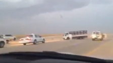Mission Impossible! Saudi man plays leading role in car chase